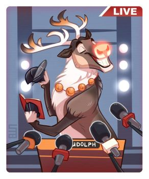 Rudolph the Superstar by Seanica