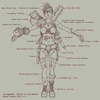 Bitch of the Wastes - Model Sheet by CameronAugust