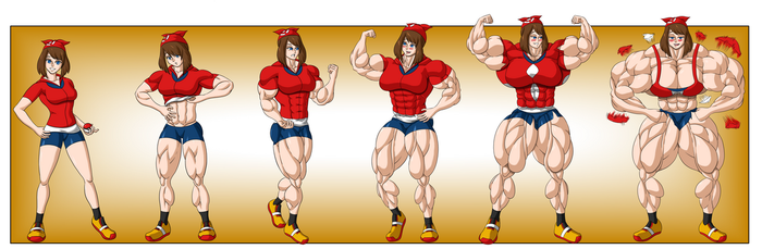 Commission - May Muscle Growth Sequence by FudgeX02