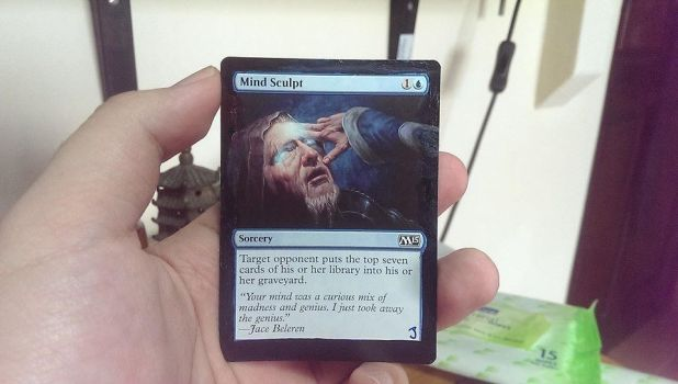 Magic the Gathering Alter - Mind Sculpt by ASliceOfUnagi