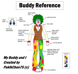 My Buddy and I: Buddy the Clown Reference by Ichigooneechan66