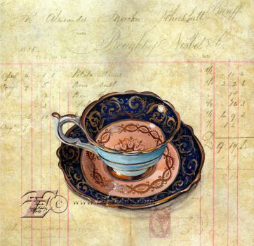 Bone Dust Teacup by felixxkatt