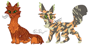 Rowanstar And Tawnypelt by TheTreeDragonBiscuit