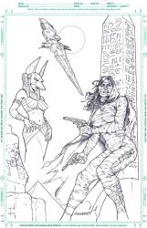 The Mummy Pencils by MannixFrancisco