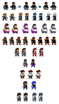 DA Users OC/FC/Themselves in RL NGPC Style Sprites by EnteiTheHedgehog