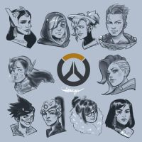 Ladies of Overwatch by jason92