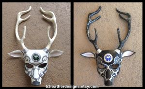 Artemis Leather Deer Masks by b3designsllc