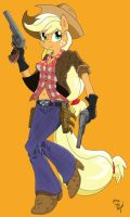 Anthro Applejack preview by AmostheArtman