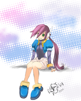 Aile with bare legs by Onlyrockman