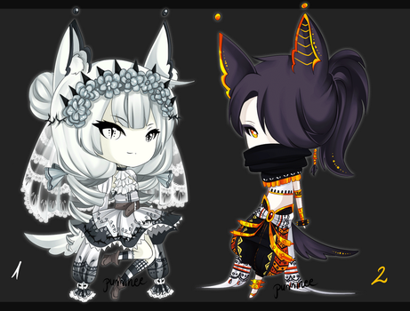 Halloween adopts CLOSED by PurrineeAdopts
