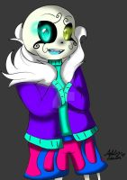 MysticalNeon! Sans by cutelittlepikakitty