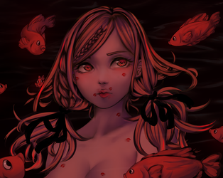 Fishes that kiss by kenryi