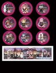 Danganronpa Buttons and Bookmark by DannimonDesigns