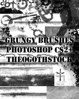 Grungy Brushes by TheoGothStock