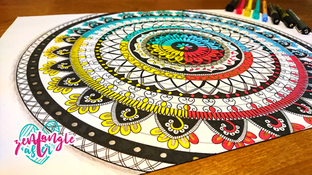 4 Color mandala by AsterBarnes