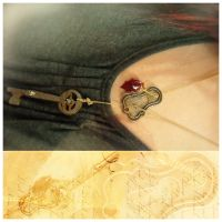 The Key Steampunk Necklace by asunder