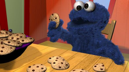 Cookie Monster 3d by 3DSud