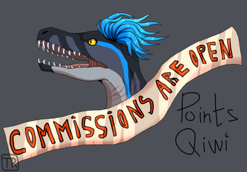 [Points] Comms are open! by Techno--Raptor
