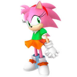 Amy Rose Classic Outfit Render by Nibroc-Rock