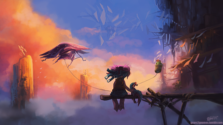 Guild Wars 2 - Dawn at the Bazaar by knight-mj
