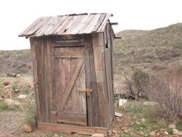 Outhouse in the AZ desert by JasonYoungdale