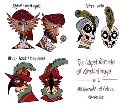 The Carpet Merchant Concept Masquerade by reimena