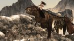 When women still rode on dinosaurs... by Edheldil3D