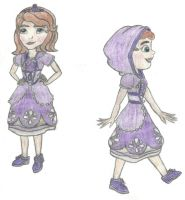 Sofia The First: Kingdom Hearts Style ( color ) by Demon-Angel1200