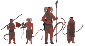 Tiefling Family by Motion-Music
