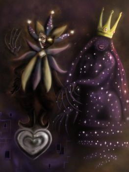 Unholy Union - Dimentio and the Shadow Queen by DonBetinoL