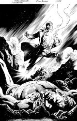 Cover Constantine#5 ink by eberferreira