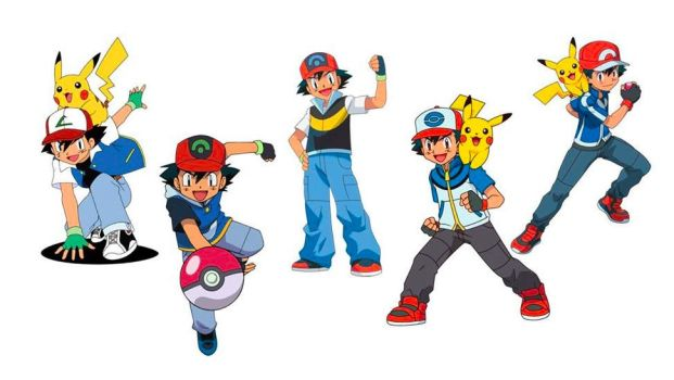 Ash Ketchum's five outfits by PlaylistMasterRCM