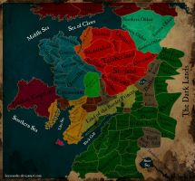 Warhammer - Political map of the Old World by HeerSander
