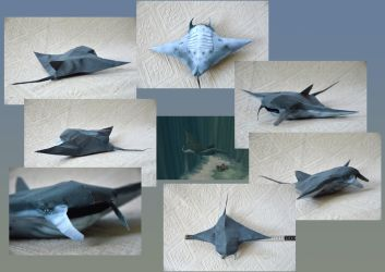 Zoo Tycoon Paper Collection - Manta Ray by DrWheelieMobile