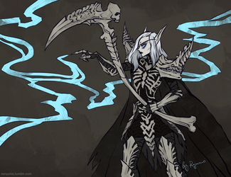 WoW + DIII: Lethargia the Necromancer by ryumo