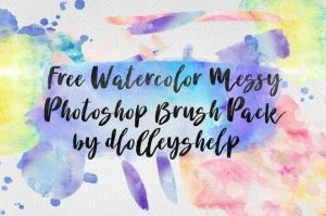 Free Watercolor Messy Photoshop Brush Pack by toxiclolley88