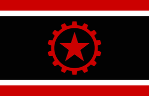 Libertarian Socialist Flag by BullMoose1912