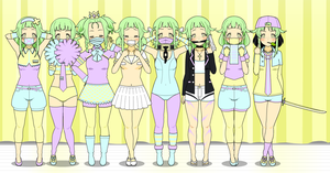 Saya's Outfits by KiseMaicul