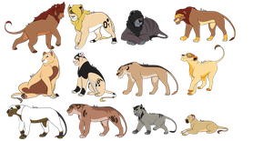 - OPEN - Breedable Savannah Pride by FrozenAdopts