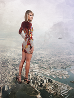Mega giantess Taylor Swift by eheh78