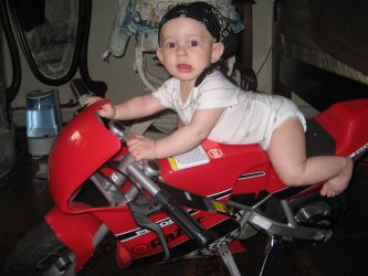 Motor Cycle Baby by goldenlion1997