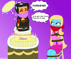 A birthday surprise for Shine by Robukun