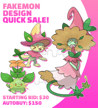 [SOLD] Fakemon Design Quick Sale #3 by zerudez