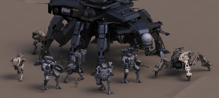 Iron Legion Mech Group by Quesocito
