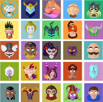 League of Legends Icons by Fanficwriter1