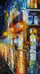 City Of Rain by Leonid Afremov by Leonidafremov