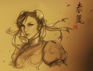 Chun Li - interpretation in realism by TixieLix