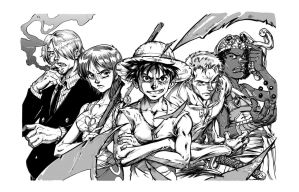 One Piece- Inks and Screens by Inker-guy
