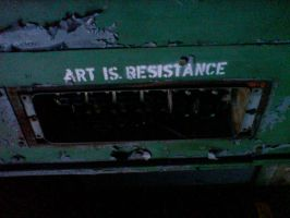 Art is Resistance Lettering by Drake-Rubicon
