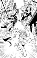 Young Justice Inks by Hominids
